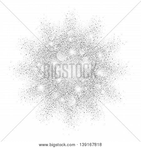 silver sand explosion vector glamour texture on white background. silver glitter background. silver background for card vip exclusive certificate, gift, luxury, privilege, voucher, present, shopping
