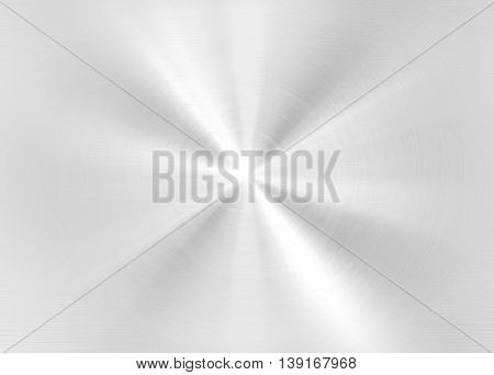 polished silver plate with light background
