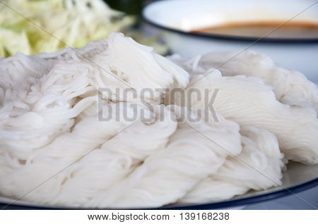 Vermicelli or noodle is thai food in thailand