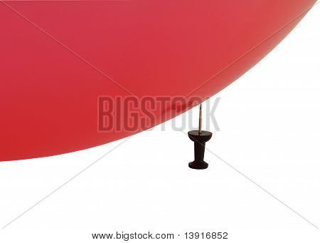 Balloon on a pin