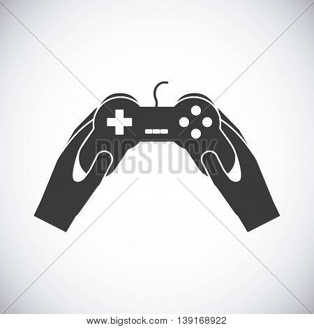 Video game concept represented by game control icon. Isolated and flat illustration.