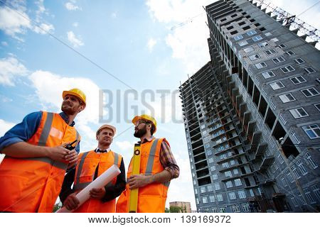 Instructors at construction site