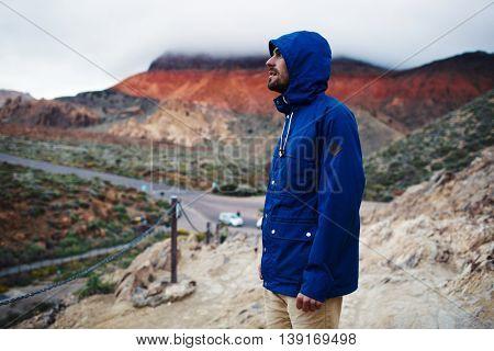 Admiring majestic panorama