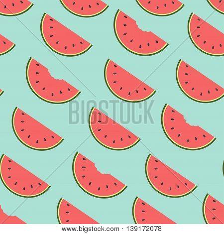 watermelon background.Vector seamless pattern. Endless texture can be used for wallpaper printing on fabric paper scrap booking.
