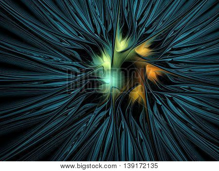 Abstract fractal flower background computer generated image
