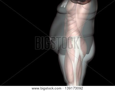 Concept or conceptual 3D fat overweight vs slim fit diet with muscles young man isolated on black background for weight loss, body, fitness, fatness, obesity, health, healthy, male, dieting shape