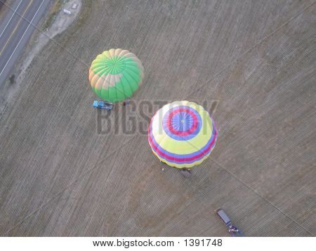 Hot Air Balloons Below