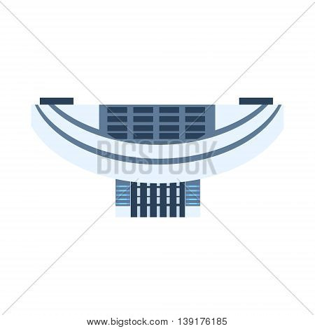 Modern Design Chinese Building In Hong Kong Flat Bright Color Primitive Drawn Vector Icon Isolated On White Background