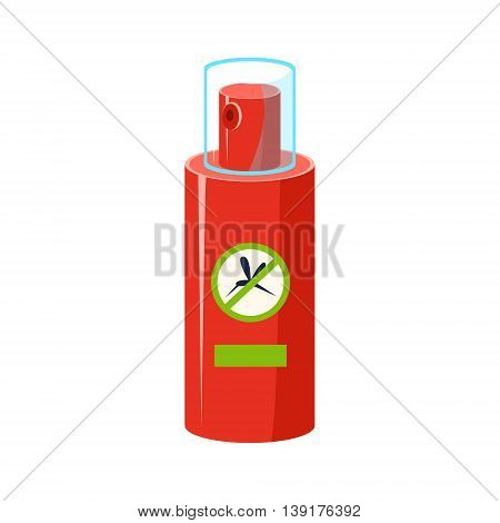 Mosquito Repellent In Plastic Bottle Flat Bright Color Primitive Drawn Vector Icon Isolated On White Background