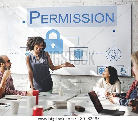 Login Accessible Password Authorized Permission Concept