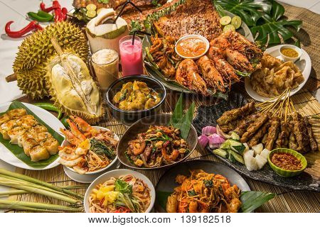 Festival fortune lunch or dinner buffet in Thai style in asia