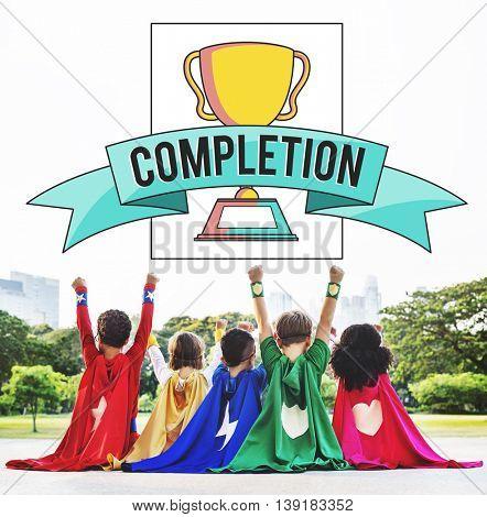 Achievement Completion Concept