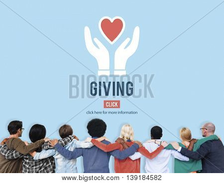Giving Give Help Aid Support Charity Please Concept