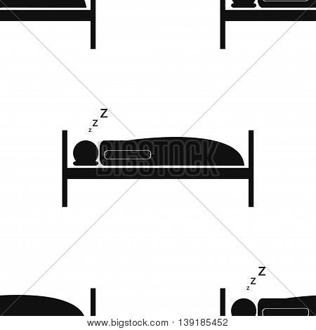 Seamless pattern for wrapping food products. Sleeper. Night. Vector illustration