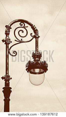 Street lighting lantern (photo in retro style) .