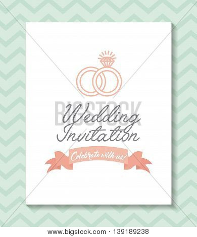 Invitation and save the date concept represented by frame icon. Colorfull and flat illustration.