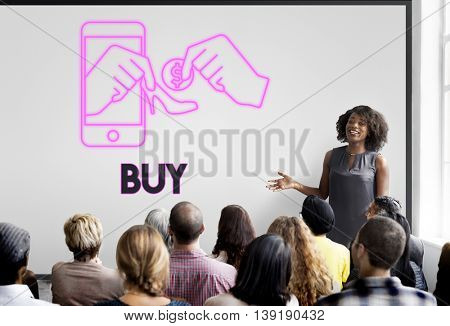 Buy Spend Purchase Shopping Buying Concept