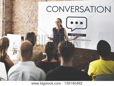 Conversation Communication Online Message Concept