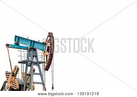 Oil pump on white background. Isolation of oil pump.