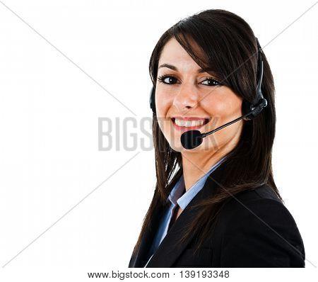 Portrait of a beautiful customer service representative
