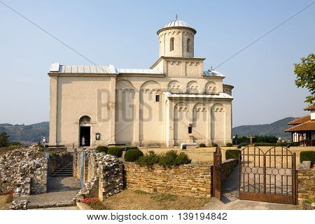 The Saint Achillius Orthodox Church In Arilje Serbia. Arilje is a town and municipality in western Serbia. The church was built in 1296 by Serbian King Stefan Dragutin.