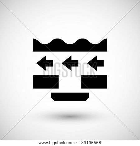 Ceiling ventilation icon isolated on grey. Vector illustration