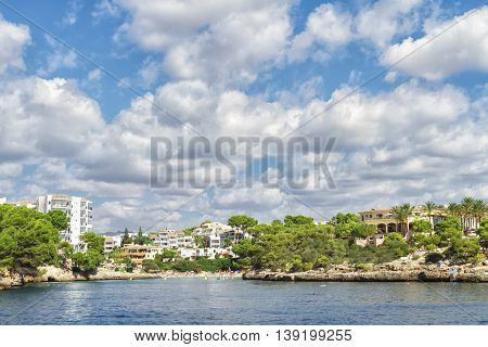 Bays and beaches on the coast of Mallorca island. Spain