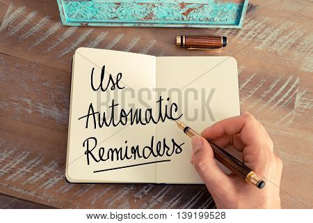 Handwritten Text Use Automatic Reminders