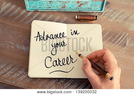 Handwritten Text Advance In Your Career