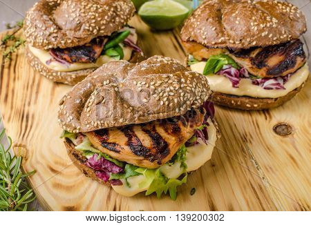 Teriyaki Chicken Sandwiches