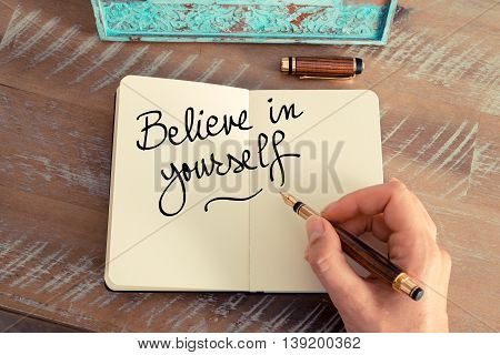 Handwritten Text Believe In Yourself