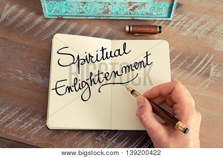 Handwritten Text Spiritual Enlightenment