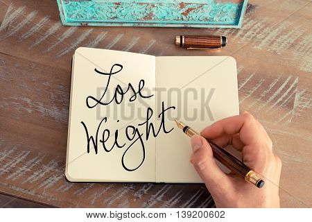 Handwritten Text Lose Weight