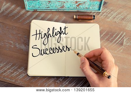 Handwritten Text Highlight Successes