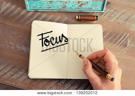 Handwritten Text Focus