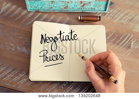 Handwritten Text Negotiate Prices