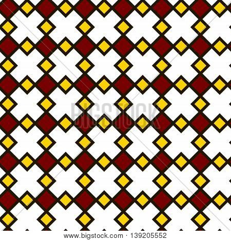 Floor Tiles Pattern, White Yellow And Red