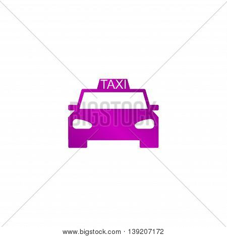 Taxi Icon. Flat Design Style.