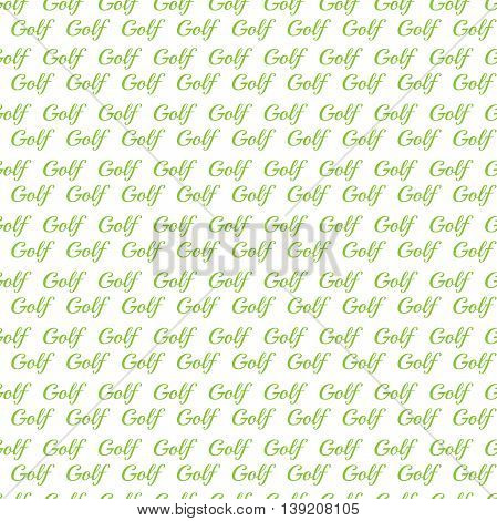seamless pattern for golf. Golf element for design. Golf background with lettering. wallpaper for website. Golf Theme lettering poster. Sport seamless pattern