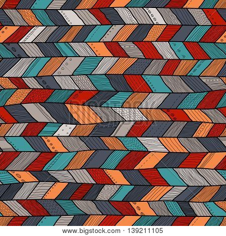 Seamless sennit pattern vector multicolored texture for fashion textile wrapping paper