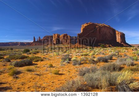 Semi-Desert And The Red Rock