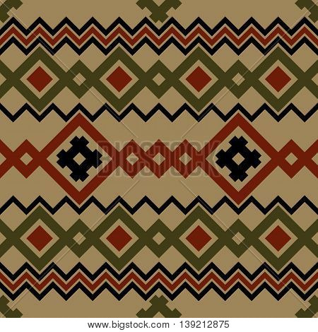 Embroidery or knit russian and ukrainian national seamless pattern.