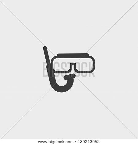 Diver icon in a flat design in black color. Vector illustration eps10