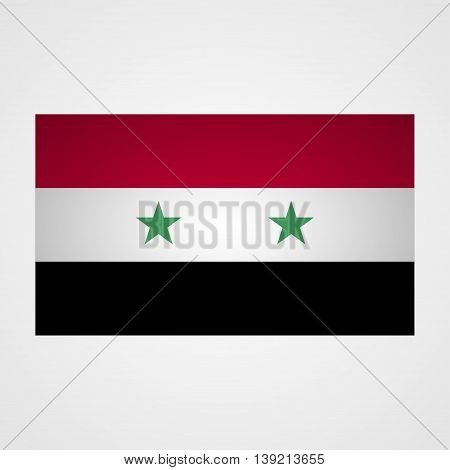 Syria flag on a gray background. Vector illustration