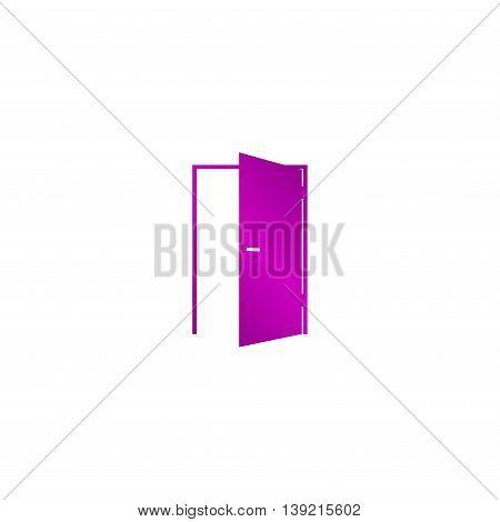 Door Icon. Flat Design Style.