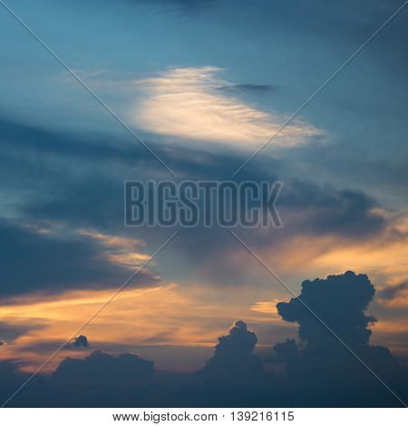 Sunset, colorful clouds