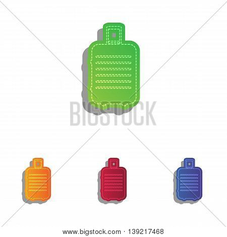Baggage sign illustration. Colorfull applique icons set.