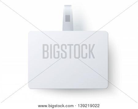 Advertising rectangular wobbler isolated on white background
