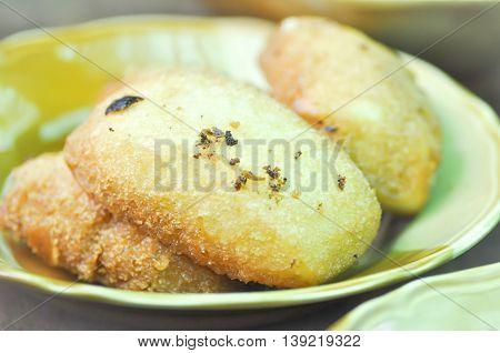 fried bun dish in Chinese style , fried bun