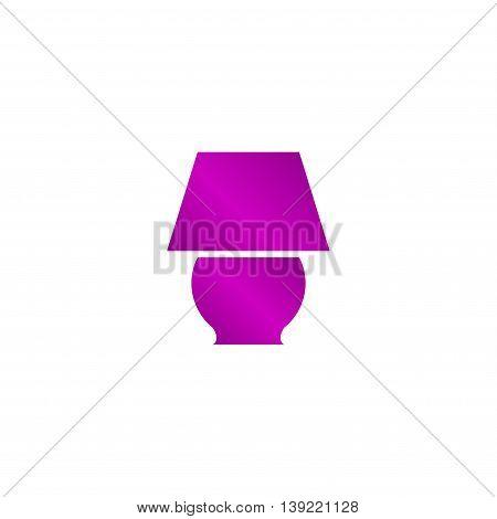 Lamp Icon. Flat Design Style.